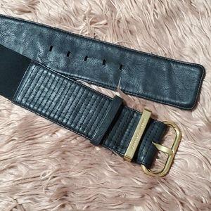 2/$35Armani Exchange Faux Leather Black Waist Belt